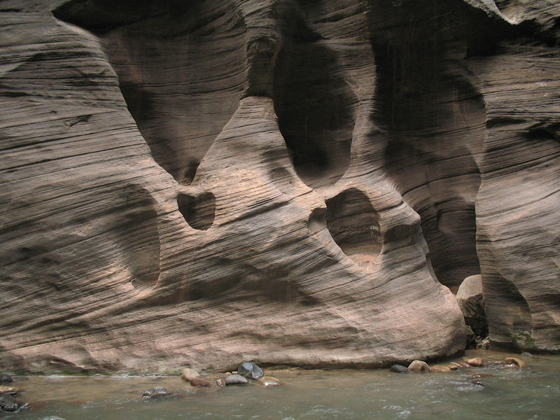 Weird rock formations seen along the narrows.