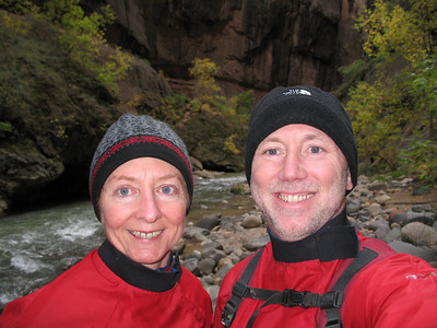 Self portrait - the end of the Narrows.