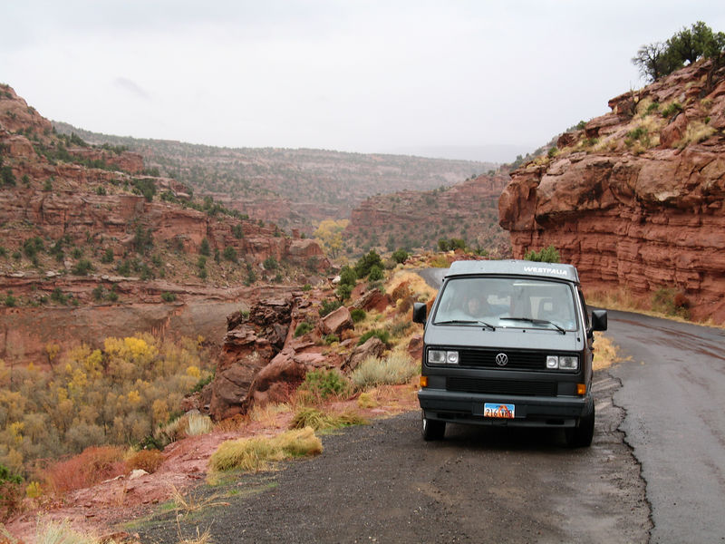 The Volkswagon Westy, facing North.