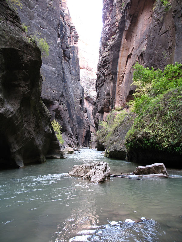 A typical view of the Narrows.