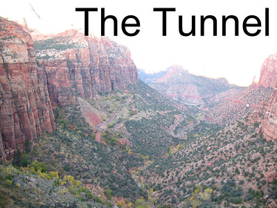We drove up these faint switchbacks to enter the tunnel completed in 1930.