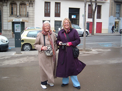 Gloria and Diana in Barcelona.