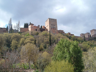 View of the Alhambra in Granada.