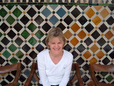 Suzanne in the Comares Palace.