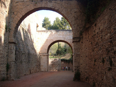 Approaching the Alhambra.