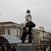 We don't know what this statue is all about, but it seems to be a prominent symbol of Madrid.