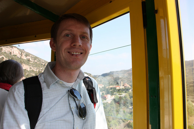 Inside the cable car.