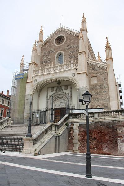 A fancy church near the Prado museum.