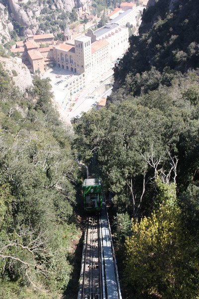 That's the funicular coming up to get us.