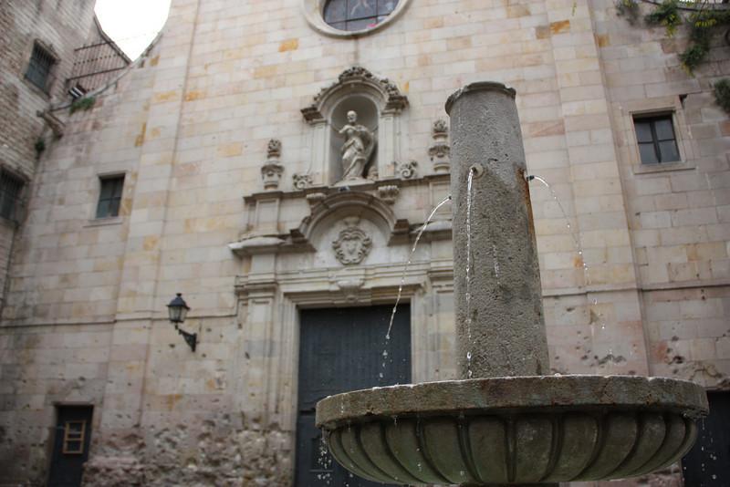Placa de Sant Felip Neri - tucked away in Barcelona's old part of town.