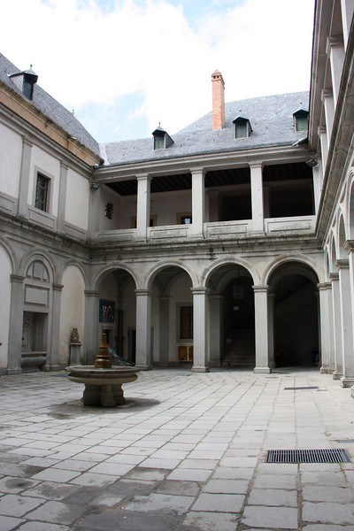 The castle courtyard.