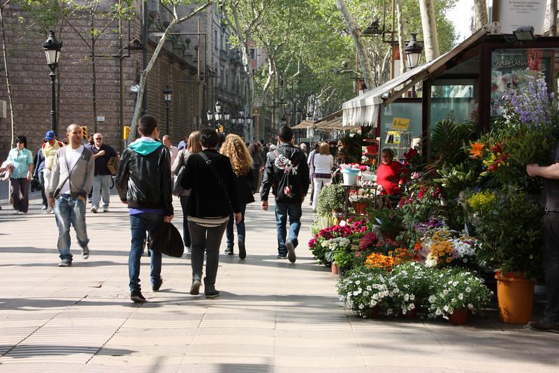 Lots of flower vendors...