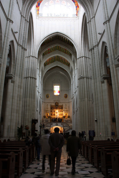 Inside Madrid's cathedral.
