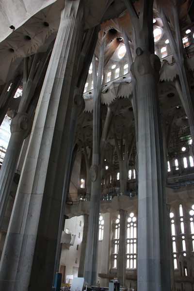 A little bit of the inside of the church.  Most of it we couldn't see because of the construction.