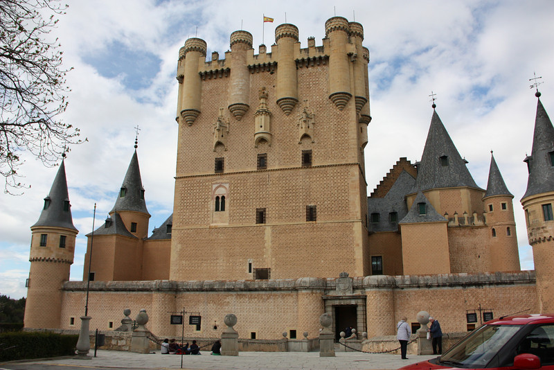 The Alcazar (castle) in Segovia.  Supposedly the inspiration for Sleeping Beauty castle.  It was pretty sweet.