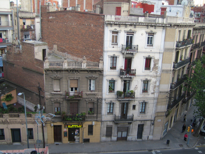The view from the hotel I stayed at after Jared left.  The hotel was nicer than the one we were in on La Rambla, but the location was not as awesome.