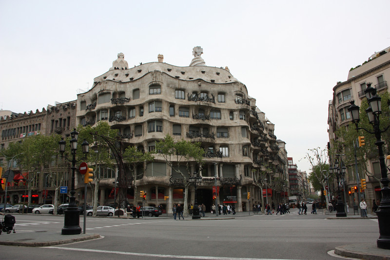 La Pedrera - a Gaudi designed apartment building.
