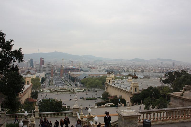 Barcelona from the Palau Nacional.