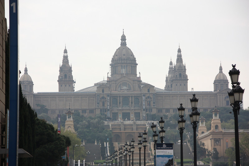 Barcelona's Palau Nacional or National Palace.  You'll notice some different spellings/words in Bacelona.  That's because their primary language is not Spanish, but Catalan.  It made things a little more interesting.