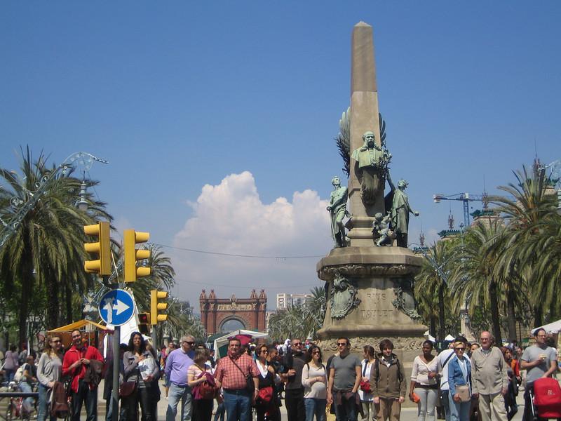 Arc de Triomf - entering the park.