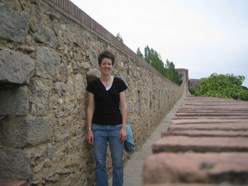 That's me on the ancient Roman wall.