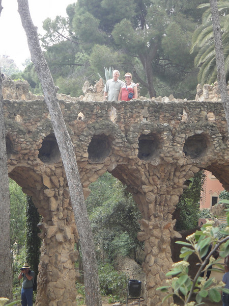 Barcelona - Antoni Gaudi architecture - Park Guell - Russ and Mary