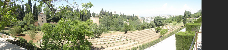Granada - The Alhambra panoramic view of the general life section