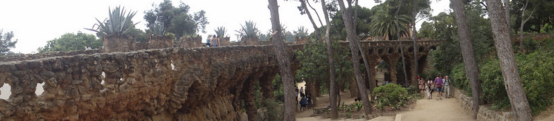 Barcelona - Antoni Gaudi architecture - Park Guell panoramic