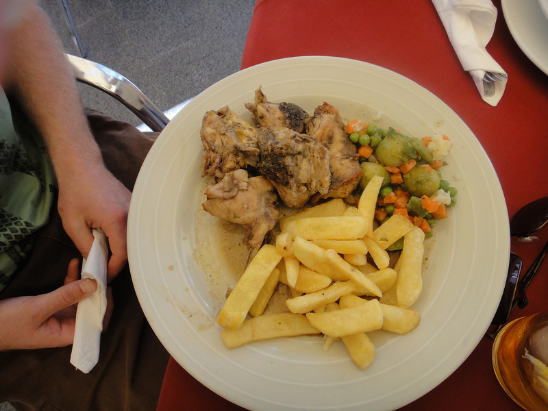 Paul ate rabbit for lunch
