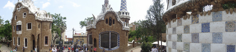 Barcelona - Antoni Gaudi architecture - Park Guell panoramic