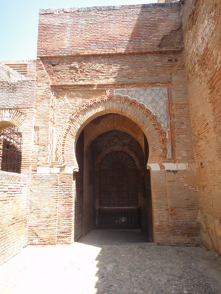 Granada - The Alhambra - Door and gate leading out of fortified city