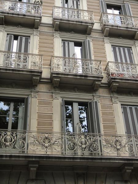 Barcelona - unique iron rod balconies