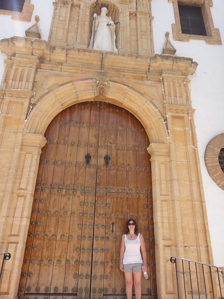 Door within a door. I have no idea how you open the large doors...