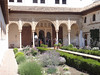 Granada - The Alhambra - bldg in the gardens