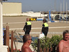 Police caught the Senegal men's stash of coach purses and wallets etc. Most got away with their stuff and they were back selling within 5 minutes.