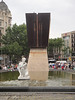 Barcelona - Main square at the top of Las Ramblas - fountain