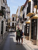 Paul and me on quaint street in Ronda