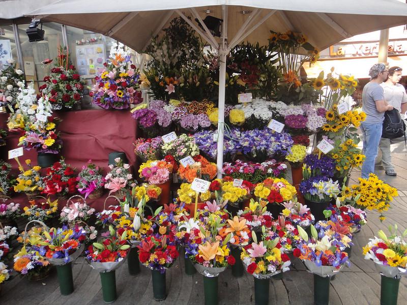 Barcelona flower stalls