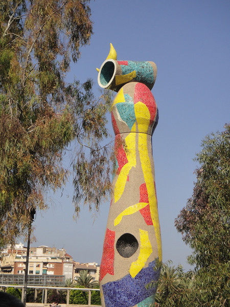 Barcelona - architecture - gift to the city from local artist - Dona i Ocell (i.e. woman and bird)