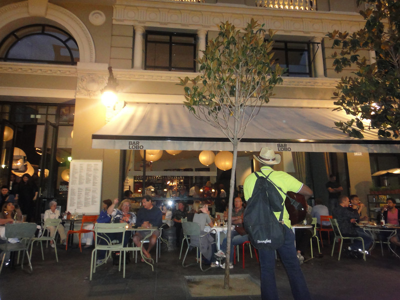 Barcelona - everyone is out for Tapas - this is around 9pm