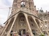 Barcelona - Antoni Gaudi architecture - La Sagrada Familia. Been under construction since 1883 and is not expected to be complete until at least 2026.