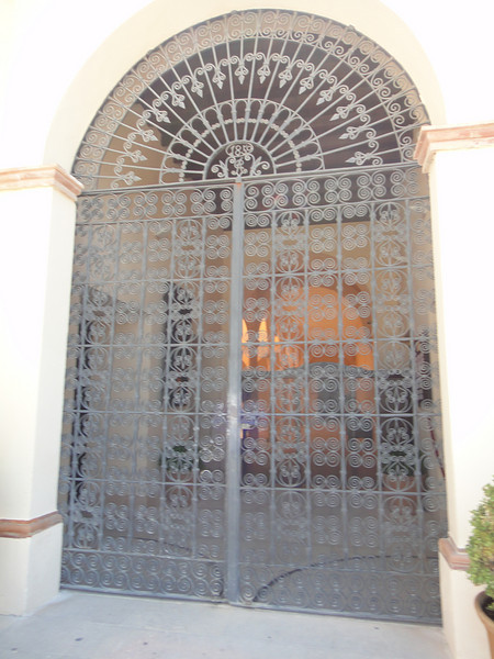 Beautiful rod iron door/gate