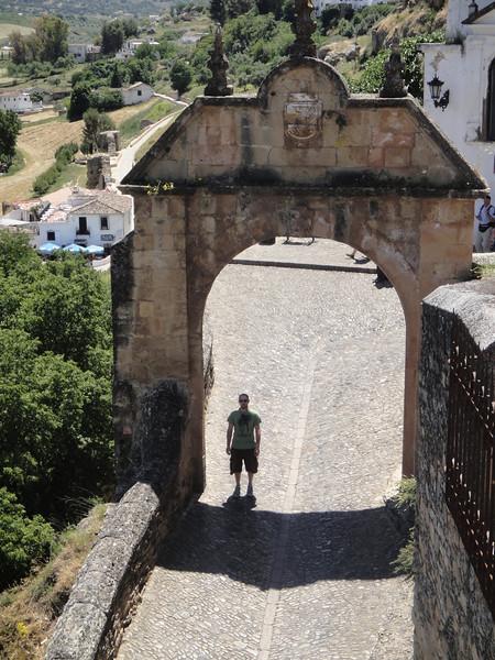 Paul and steep street below