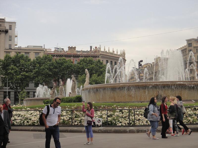 Barcelona - Main square at the top of Las Ramblas