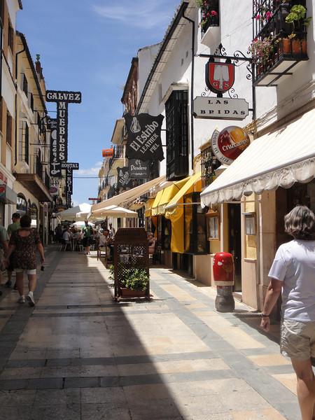 Busy street in Ronda