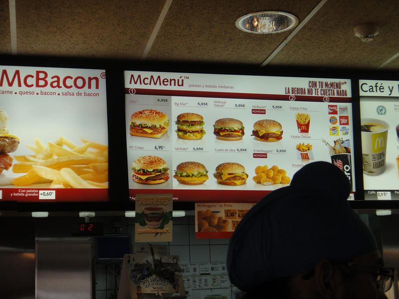 Big Mac is not a #1 here in Spain