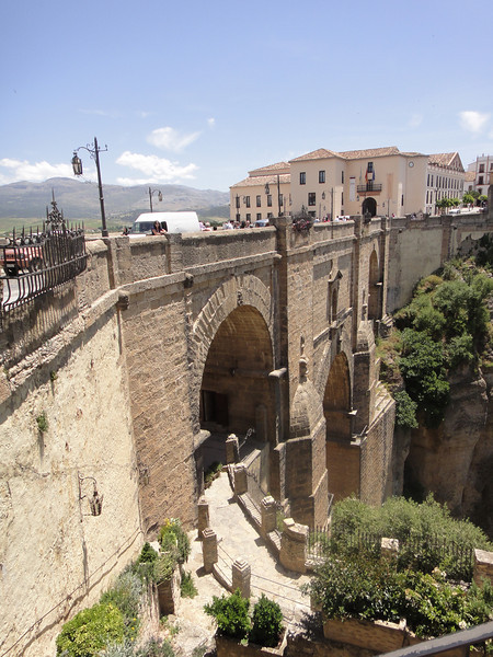 Bridge into fortified town Ronda
