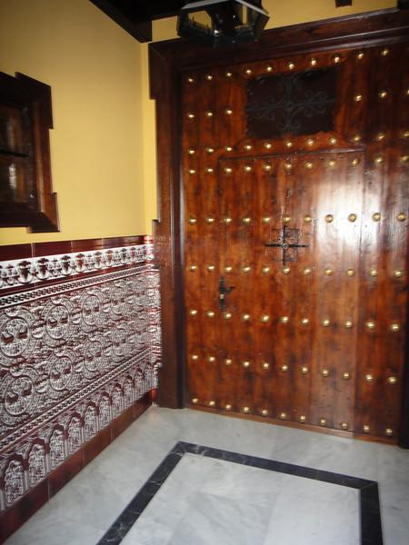 Tile and door
