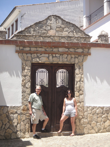 Russ and me in front of another cool door