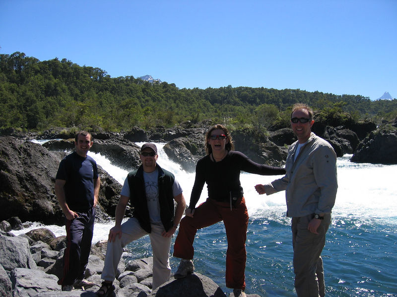Some falls on the way to El Volcan Osorno.  We look in awe as Jack picks his line in the rapid.